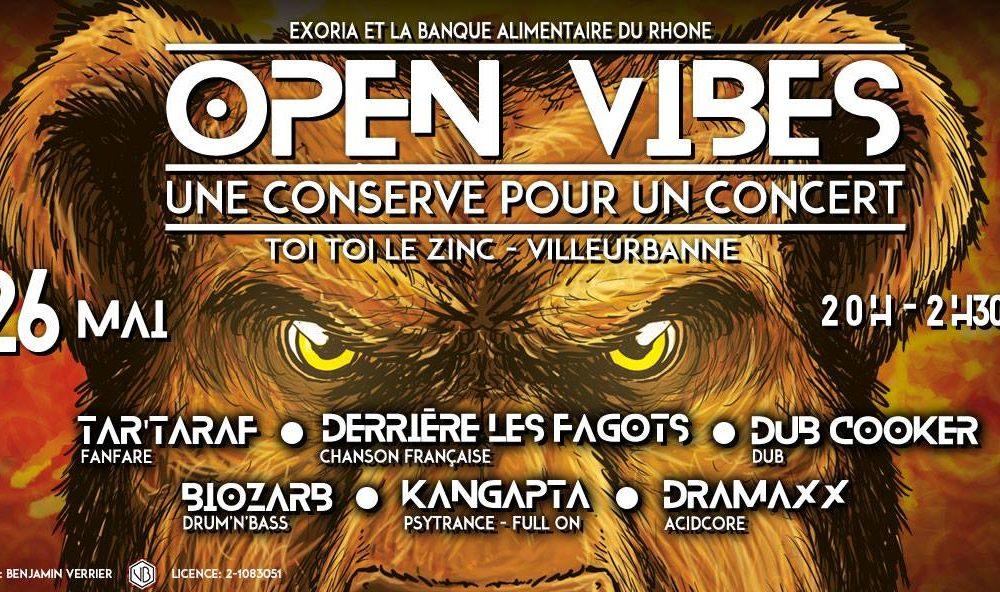 Open Vibes, une conserve pour un concert